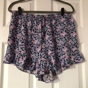 Mossimo Ruffle Floral Shorts
